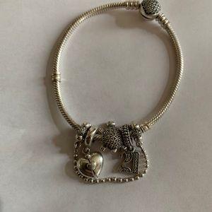 Pandora bracelet and Pandora charms NWOT